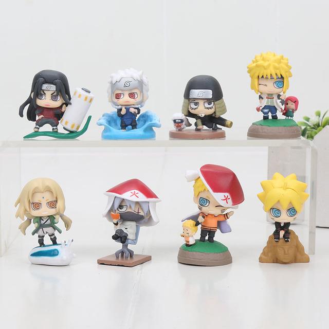 Naruto Boruto Senju Tobirama Senju Hashi Tsunade Kakashi Action Figure ( 8pcs/set)