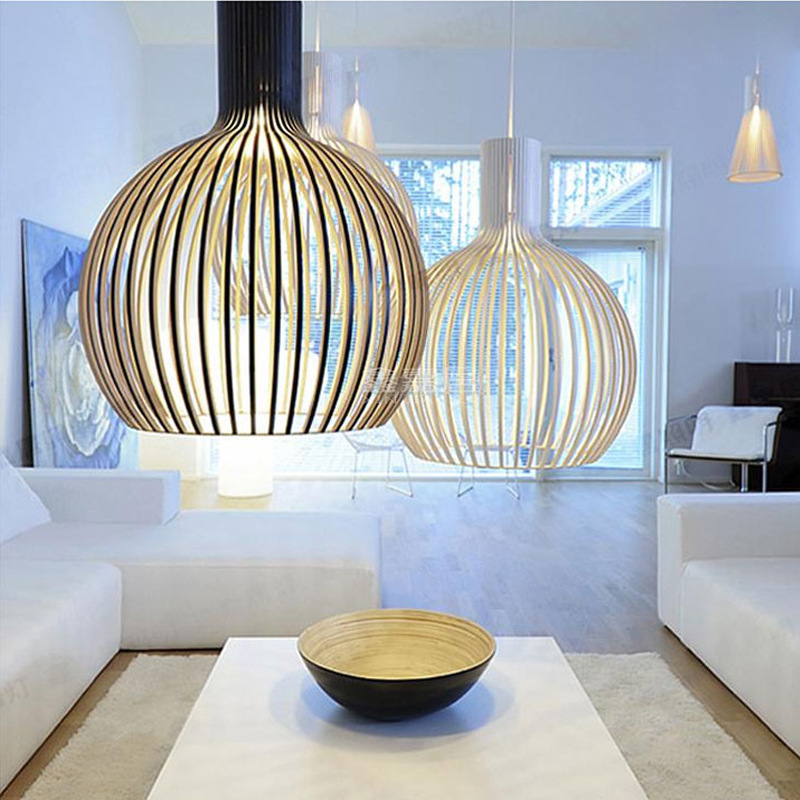Birdcage Creative Showroom Office Clothing Shop Lamp Living Dining Room Droplight Bar European-style Sphere Led Pendent Light