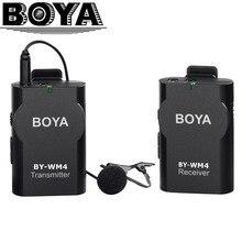 Boya универсальный петличный беспроводной микрофон микрофон для ios смартфон tablet камеры dslr видеокамеры audio recorder pc аудио/видео