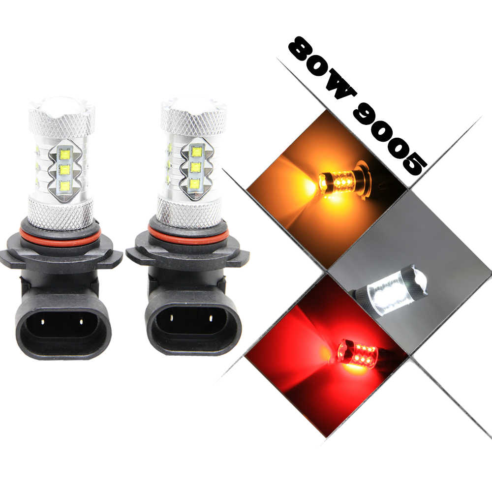 2x LED H4 H7 H8 H9 H10 H11 H15 HB3 HB4 5202 P13W PSX24W 1156 BA15S 3157 7443 Cree Chip White red Car Fog Light Lamp 12V Bulb