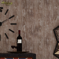 beibehang Non woven paper wall 3d 3d living room dining room bedroom study American retro TV backdrop simple wallpaper