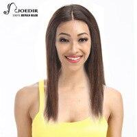 Joedir Brazylijski Prosto Remy Włosy Peruki Koronki Przednie Włosów Ludzkich Peruk Dla Czarnych Kobiet 16 Kolory Wybór Darmowa Wysyłka