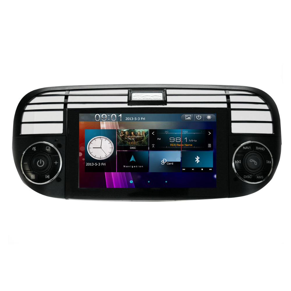 free ship car dvd video player stereo ts gps navigation for fiat 500 2007 to 2013 radio player. Black Bedroom Furniture Sets. Home Design Ideas