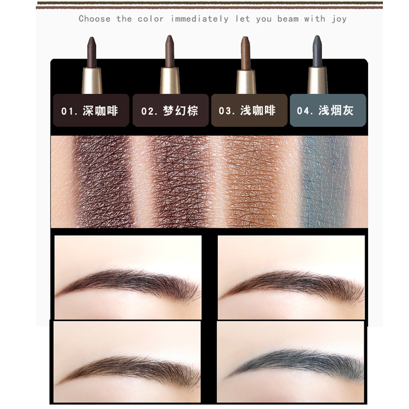 1PC Professional Eye Brow Makeup with Refill Easy to Wear Pigment Brown Gray Waterproof Eyebrow Pencils Kit Make Up Cosmetics 5