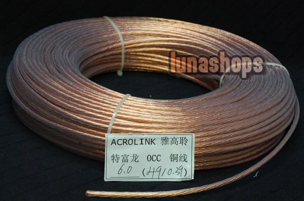 LN002495 5m Outside Dia 6mm 49Pins 0 39mm Acrolink OCC Signal Teflon Wire Cable For DIY
