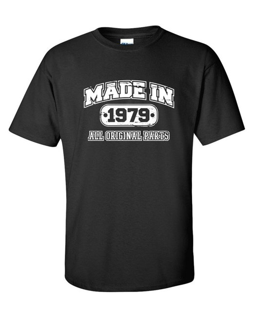 37th Birthday T Shirt Made In 1979 Vintage Mens Funny T SHIRT