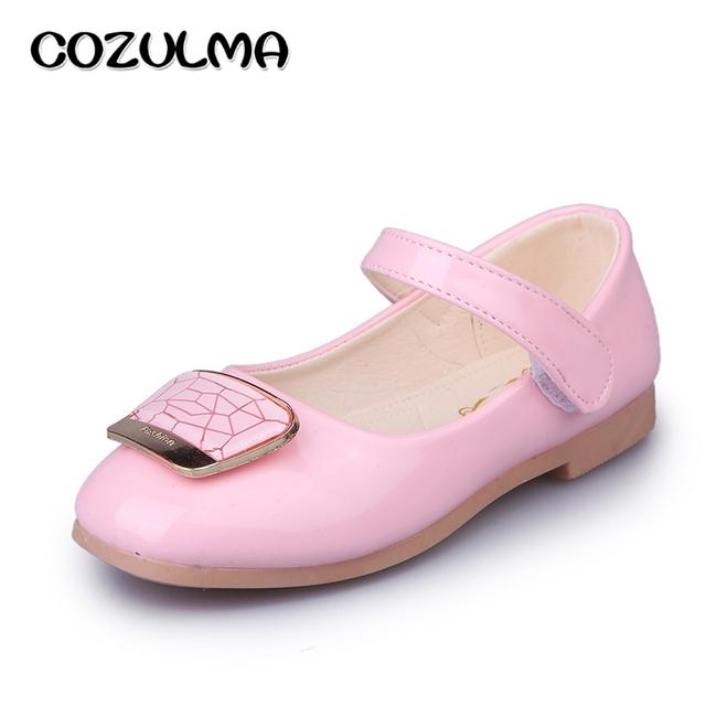 Cozulma primavera verão meninas shoes sandálias crianças meninas couro envernizado shoes crianças shoes meninas princesa partido sapato de dança sandálias