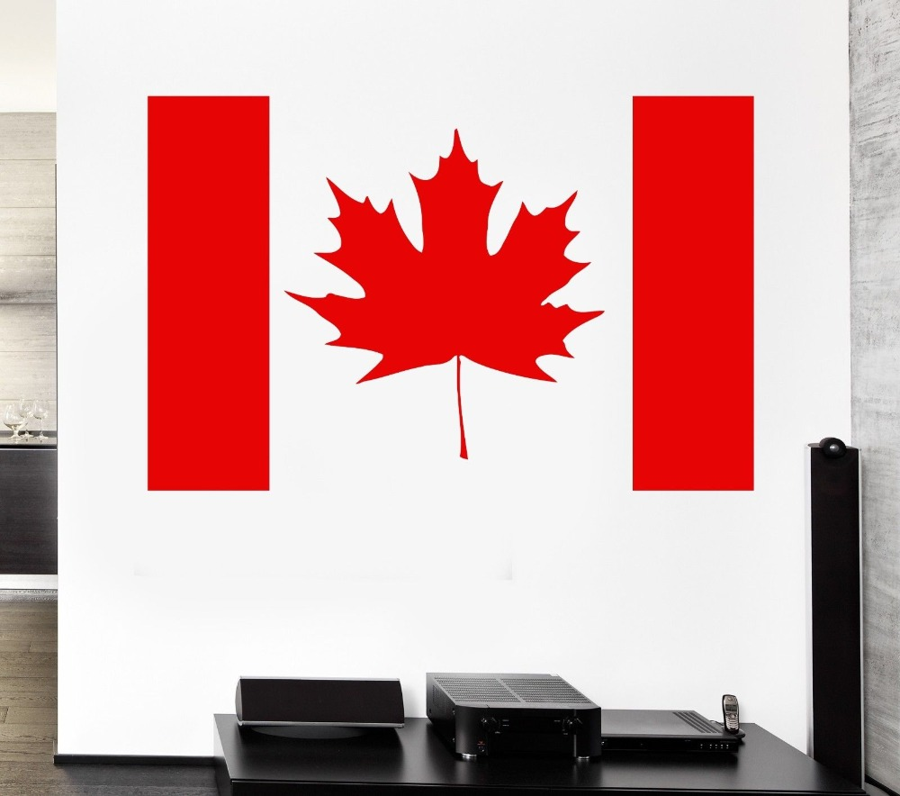 Removable Maple Leaf Canada Flag Vinyl Art Stickerc Canada Symbol