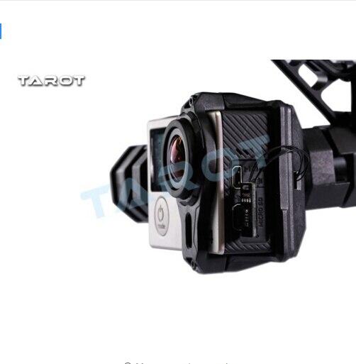 F17394 T4-3D Double amortisseur cardan pour Gopro Hero4/3 +/3 Double amortisseur cardan TL3D02 - 3
