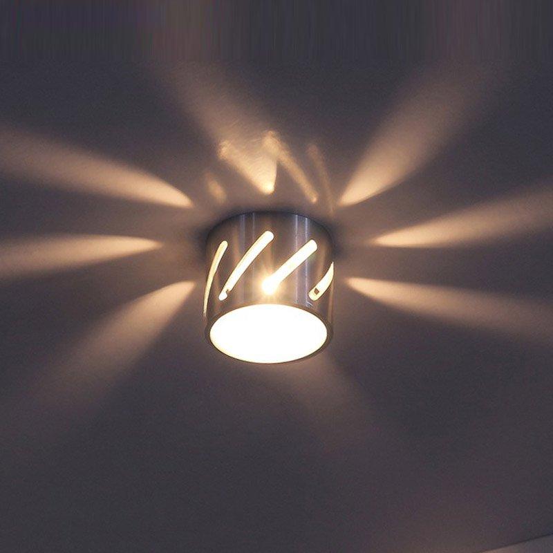 3W New Modern Aluminum Hollow Tube Bedroom Wall Light Free Shipping Hallway Gallery Smart Aluminum Little Wall Lamp