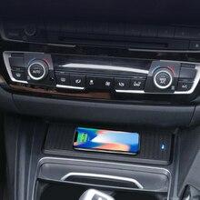 Samochód bezprzewodowa ładowarka qi konsola środkowa uchwyt na kubek wody wykończenia dla BMW serii 3 F30 F31 F32 3GT F34 F36 do przechowywania ramka skrzyni wnętrza