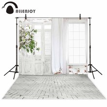 Allenjoy background for photos tree room door brick floor printed backdrop for a photo shoot photocall original design
