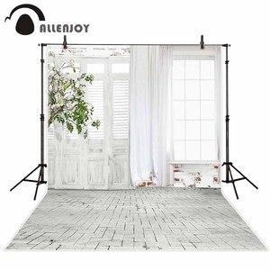 Image 1 - Fond dallenjoy pour les photos arbre chambre porte brique plancher imprimé toile de fond pour une séance photo photocall design original