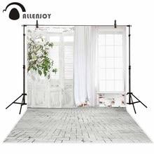사진에 대 한 allenjoy 배경 나무 방 문 벽돌 바닥 사진 촬영을위한 배경 photocall 원래 디자인