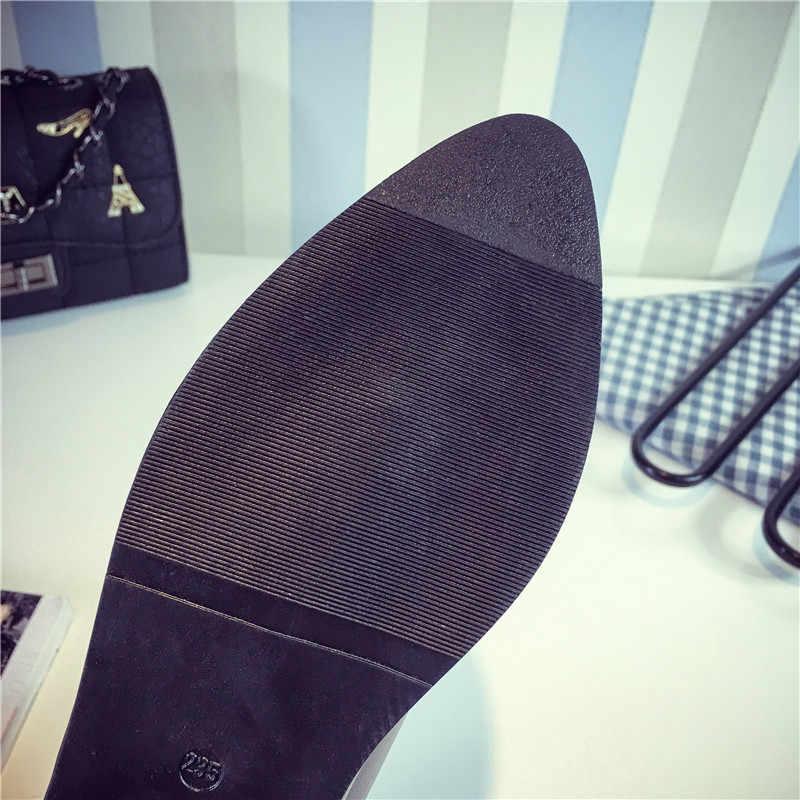2019 חורף צ 'לסי מגפי נשים נעליים שטוח מגפי קרסול botines נמוך עקבים botas mujer chaussures femme zapatos mujer 7643