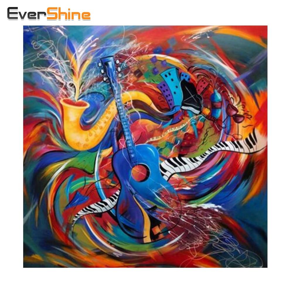 Evershine 5D Вышивка с кристаллами красочные Гитары полный квадратный Мозаика Crystal Diamond Вышивка украшение дома моды