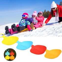 Спортивные доска для катания по снегу сани доска для детей и взрослых детей зимние Утепленные пластик Песок Трава сани снег luge открытый