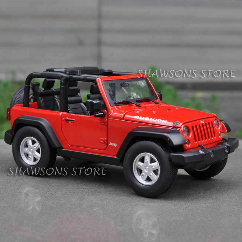 DIECAST MODEL CAR TOYS 1:24 JEEP WRANGLER RUBICON SUV VEHICLE REPLICA COLLECTION