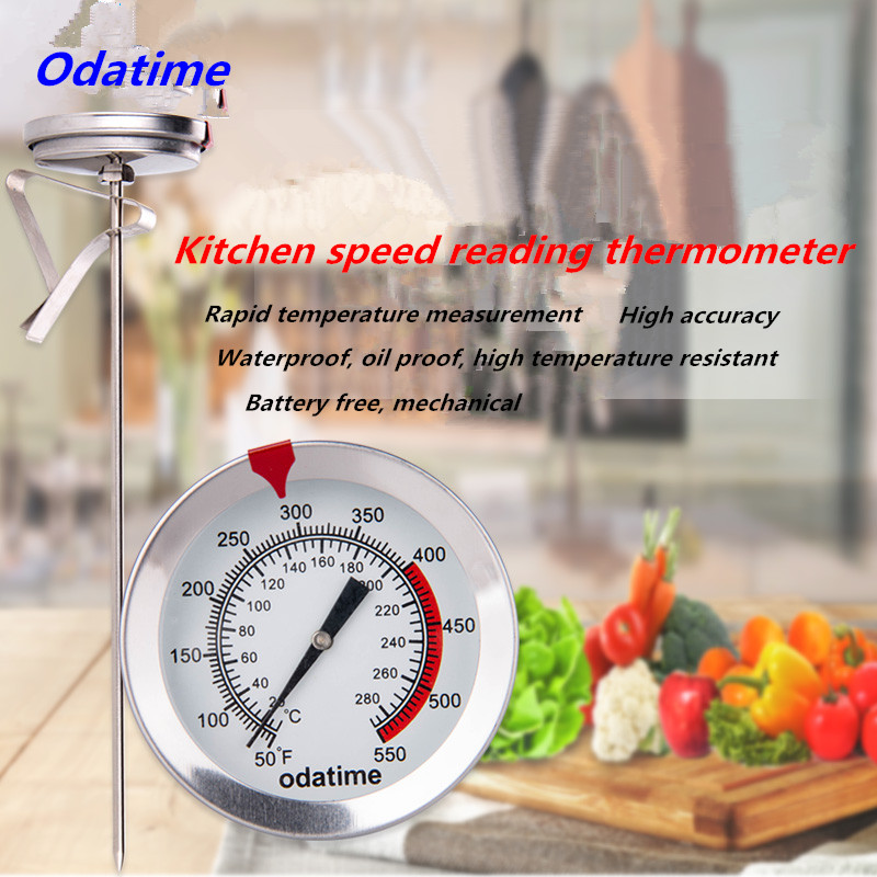 Odatime Food Thermometer made of Stainless Steel with Clamp for Accurate Temperature Measurement in Seconds 4