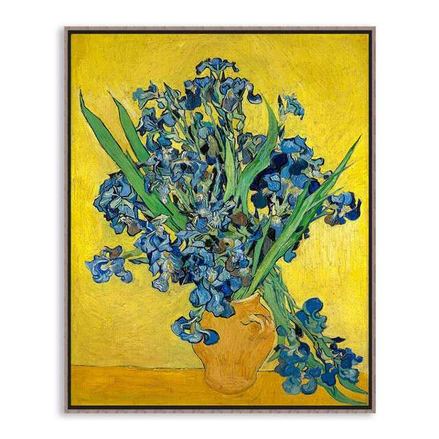 Irise Vincent Van Gogh Yellow Modern Blue