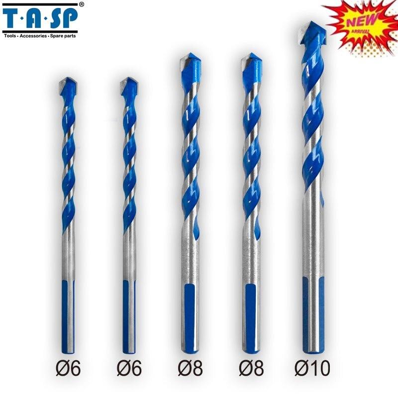 цена на TASP MDBK021 Multi Purpose Construction Drill Bit Set Carbide Tip for Masonry Tile Wood Metal Drilling