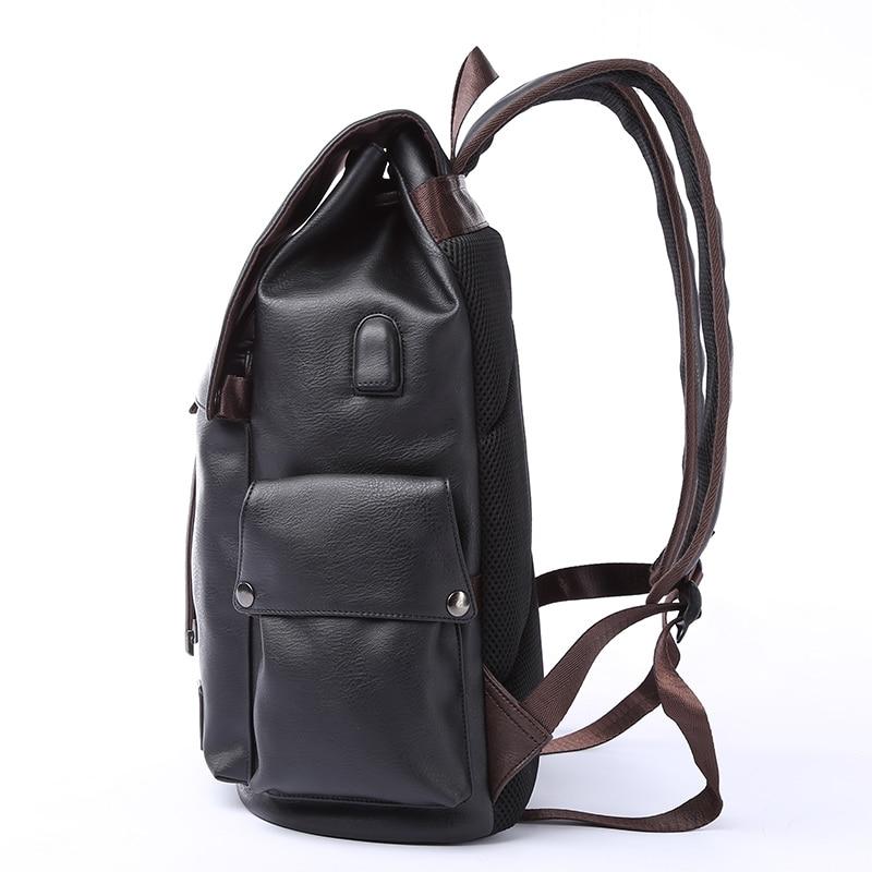 MOYYI célèbre marque sac à dos en cuir de Style scolaire sac pour collège conception Simple hommes imperméable à décontracté casual Daypacks mochila 2019 - 2