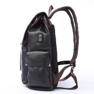 Image 2 - MOYYI célèbre marque école Style sac à dos en cuir sac pour collège conception Simple hommes imperméable décontracté Daypacks mochila 2019