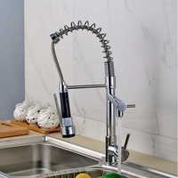 Newly Arrival Retail And Wholesale Promotion Sping Chrome Polish Kitchen Faucet Mixer Tap Single Handle