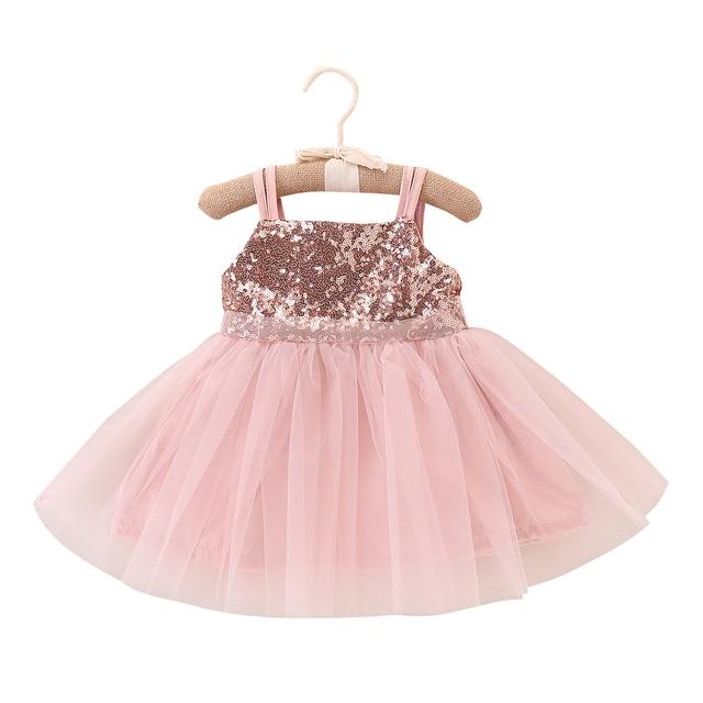 796c5c949158 2018 Brand New Infant Toddler Kids Baby Flower Girls Party Sequins Dress  Wedding Princess