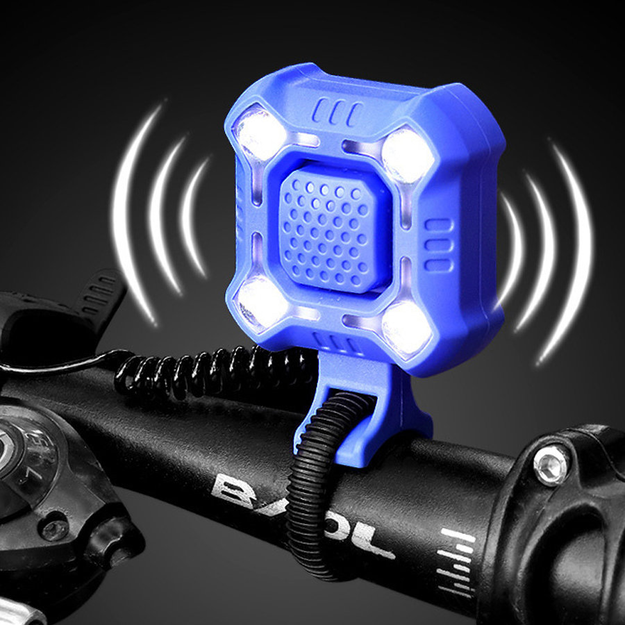 Bike Bell 140db Electric Bicycle Horn Alarm Bell Light Ultra Bright Horn Bell