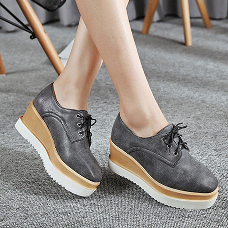 Aliexpress.com : Buy 2016 Solid Womens Flats Square Toe Genuine ...