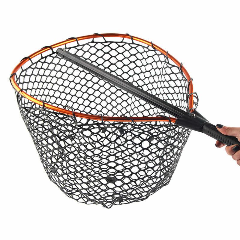 35/43 cm al aire libre telescópico de aleación de aluminio Dip Red Anti-colgante de goma calamar red carretera Asia rasguño -resistente