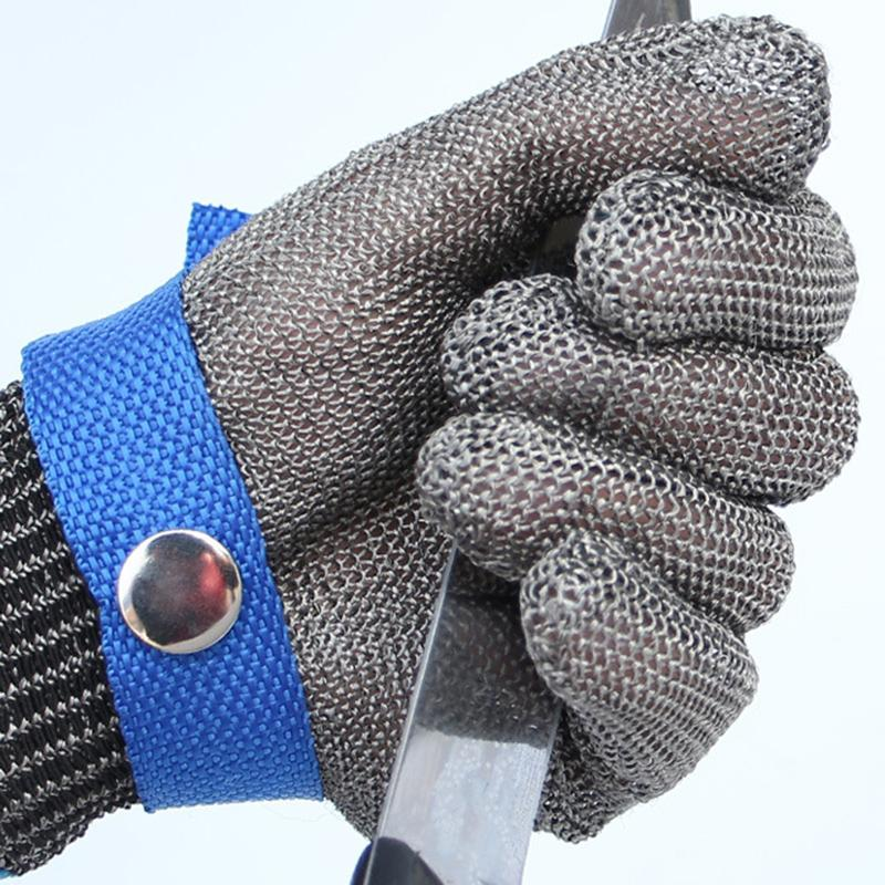ФОТО Safety Cut Proof Stab Resistant work gloves Stainless Steel Wire Safety Gloves Cut Metal Mesh Butcher Anti-cutting Work Gloves