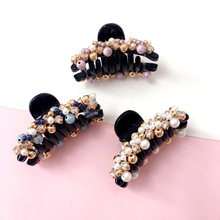 Elegance Crystal Hair Accessories For Girls Flower Cycle Shaped Hairpin Handmade Pearl Clips Claws