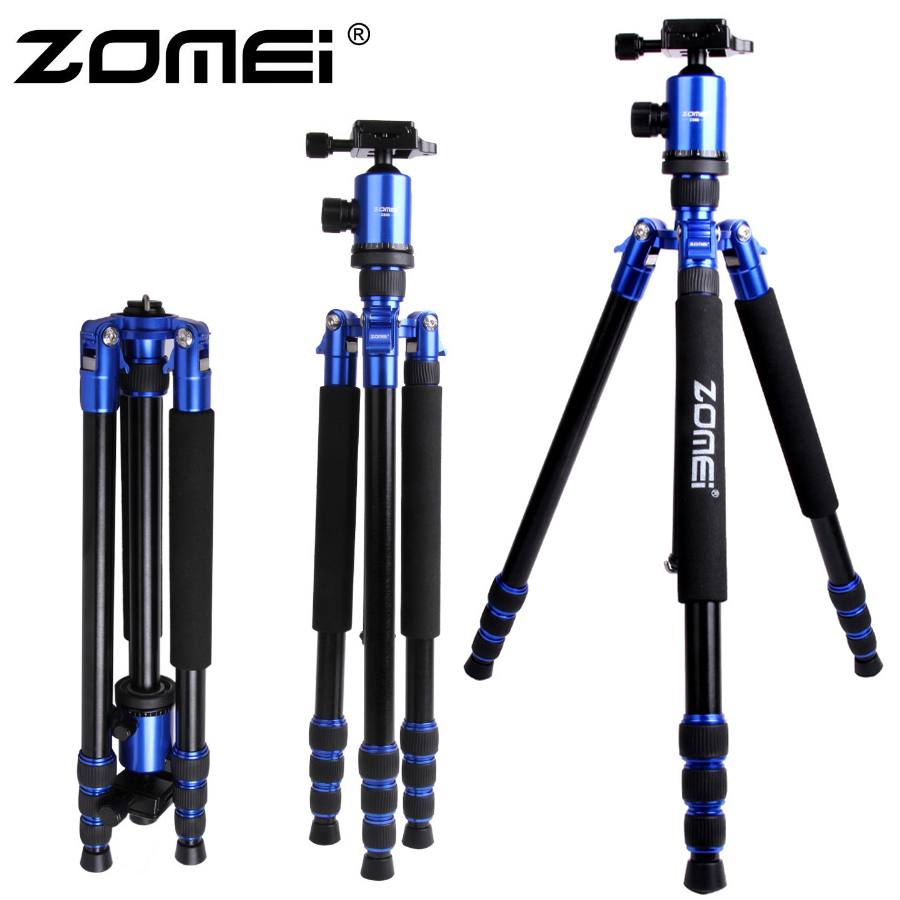 Zomei Z888 Portable Professional Aluminium Alloy Travel Tripod Monopod Z818 For SLR DSLR Digital Camera Five Colors Available