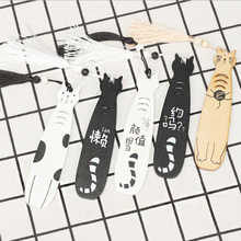 1X Creative cute small fish wooden Promotional Gift Bookmarks Stationery Kawaii Cartoon Office School Supply