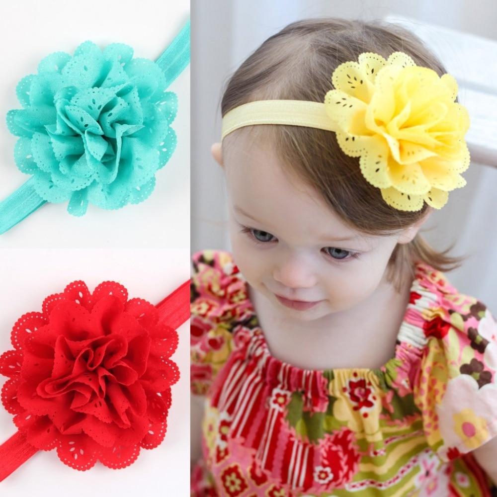 Girls Headwear Headband Chiffon Flower Headbands Hair Band