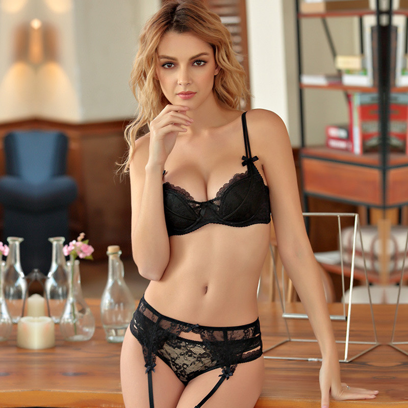 TERMEZY Sexy Push up   Bra     set   Women's underwear Sexy Lingerie   set   Straps adjustable Bralette Women   Briefs   for Women intimates