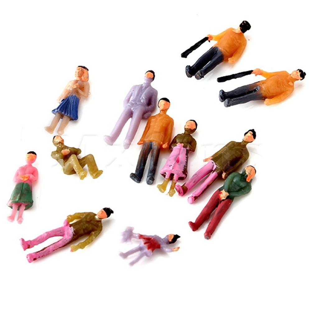 Mxfans 1 компл. 100 шт. 1:100 Весы ручная роспись Макет Модель поезда Люди рисунок ...