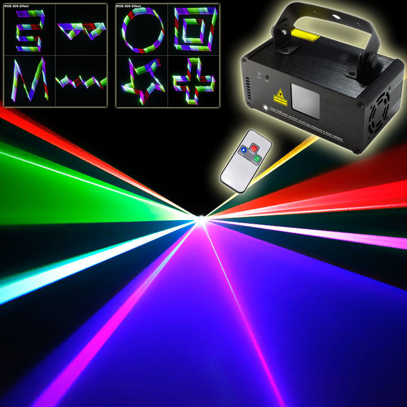 Remote DMX 3D Projector RGB Laser Lines Beam Scans DJ dance Bar Xmas Party Disco DMX512 Lighting Stage Effect Light Show N75B125 animation laser light projector with dmx sound auto mode animated beam stage lighting effect play for disco bar party show