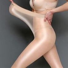 Medias reflectantes de talla grande para mujer, medias de cintura alta con brillo de 60 Deniers para danza H101, superelásticas, EE. UU. Y Europa