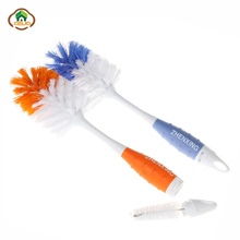 MSJO Baby Bottle Brush Kids Milk Feed Nipple 2 in1 Pacifier Tube Cleaner Kitchen Glass Cup Drinking Brushes