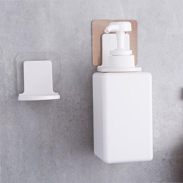 Self Adhesive Bathroom Wall Mounted Shower Gel Shampoo Bottle Holder Suction Traceless Hook