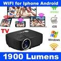 Смарт Miracast Airplay WI-FI Домашний Кинотеатр HDMI ЖК-Видео Портативный мини 1080 P HD 3D LED-ТЕЛЕВИЗОР Проектор Proyector Для Iphone Android
