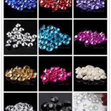100 шт./лот 12 цветов 10 мм свадебный стол разбросанные кристаллы алмазные конфетти декорация Акриловые Алмазные конфетти
