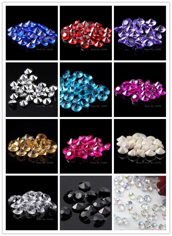Valentine/'s Acrylic 175 Heart Shape Gems Vase Filler Confetti Table Scatter  Red