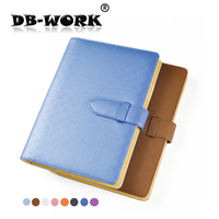 2019 Fashion Notepade Business simple A5 notebook leather notebook with buckle loose leaf book can be customized