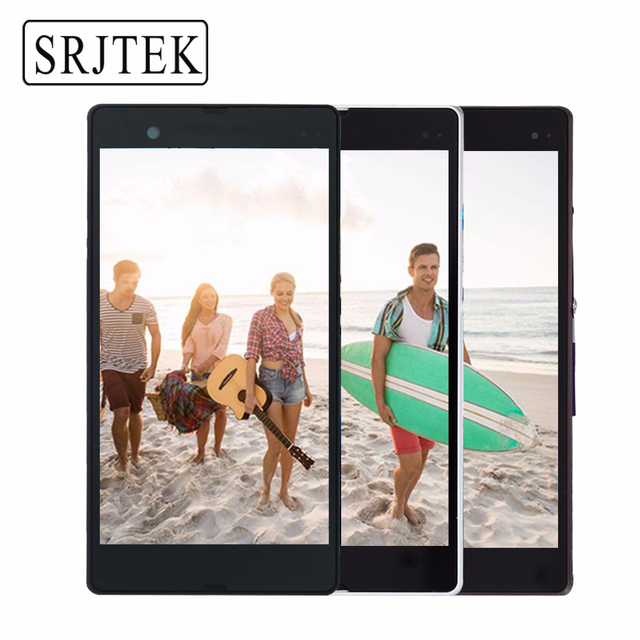 """Original 5"""" 1920x1080 For SONY Xperia Z LCD Touch Screen Frame For SONY Xperia Z Display Digitizer Assembly L36H C6603 C6602"""