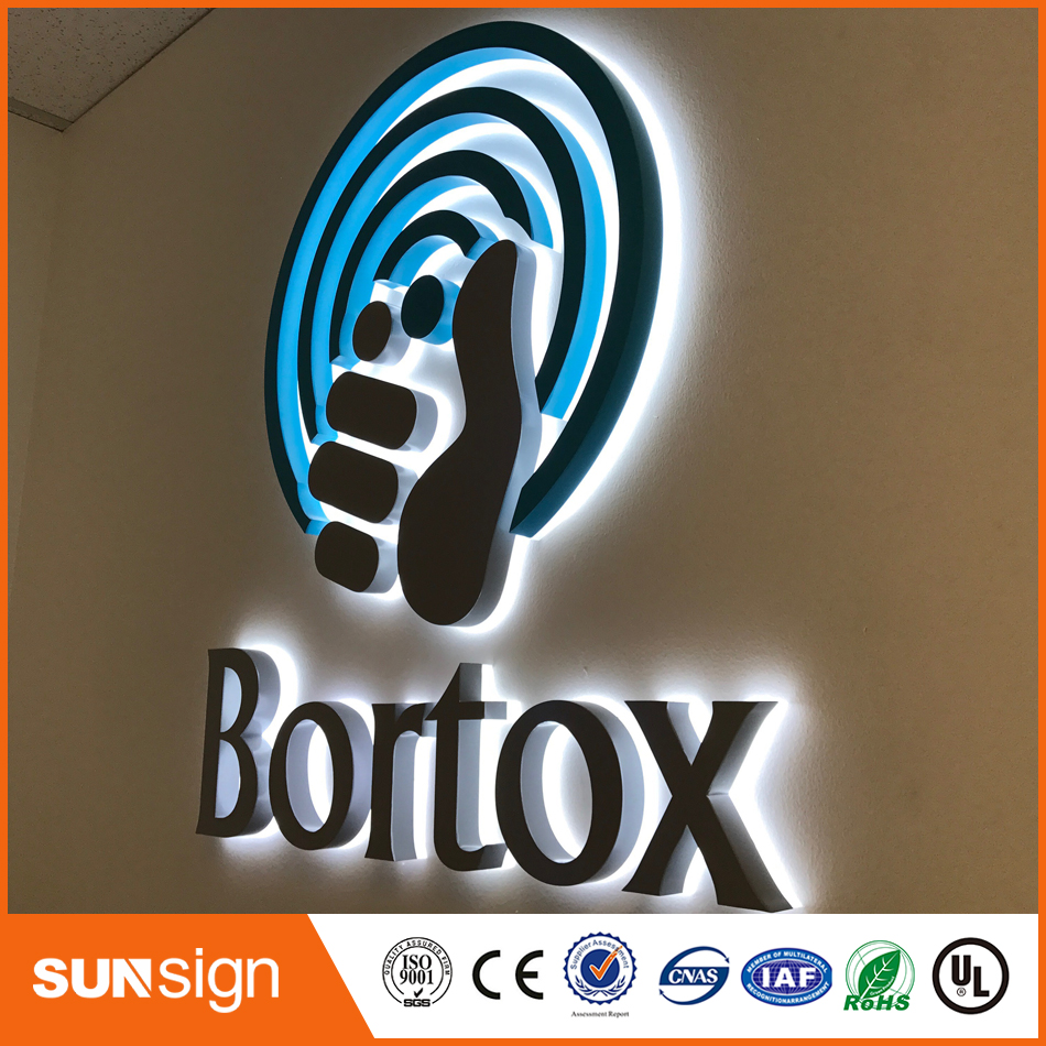 Outdoors Illuminated Channel Letters, Stainless Steel Backlit Led Sign