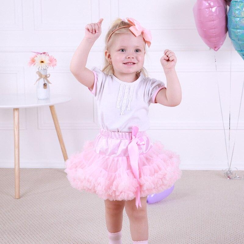 Children Kids Girls Tutu Skirts Fluffy 0-10T Princess Skirt Chiffon Pettiskirt Ballet Dance Skirt Solid Colors Tulle Petticoat